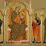 Part 2 Louvre - Paolo Veneziano -- Virgin and Child with Saint Francis of Assisi, Saint John the Baptist, Saint John the Evangelist and Saint Anthony of Padua