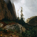Part 2 Louvre - Alexandre Calame -- Grimselpass in the Canton of Berne, Switzerland (Thunderstorm in the Mountains; Route du Grimsel)