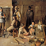 Part 2 Louvre - Jean Michelin -- Soldiers resting at an inn