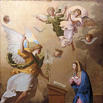 Studio of Eustache Le Sueur -- The Angelic Salutation, Part 2 Louvre