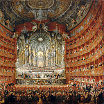 A musical celebration given the Cardinal Rochefoucauld at the Teatro Argentina in Rome, July 15, 1747, on the occasion of the wedding of the Dauphin Louis XV and Marie-Josephe of Saxony., Giovanni Paolo Panini