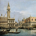 Canaletto -- The Molo, seen from the San Marco Basin, Part 2 Louvre