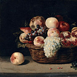 Part 2 Louvre - Jacques Linard -- Basket of pomegranates, peaches and grapes