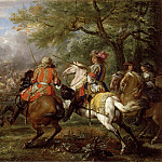 Part 2 Louvre - Adam Frans van der Meulen -- Defeat of the Spanish army near the Bruges Canal