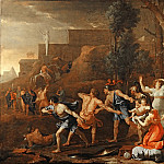 Nicolas Poussin -- Young Pyrrhus Saved, Part 2 Louvre