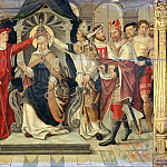 French School; formerly considered Flemish -- Coronation of Pope Celestine V in 1294, Part 2 Louvre