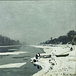 Part 2 Louvre - Monet, Claude -- Glacons sur la Seine a Bougival-ice floes on the Seine at Bougival, around 1867 Canvas, 65 x 81 cm R.F.1961-62