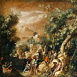 Paul Bril -- Landscape with Figures, Part 2 Louvre