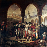 Antoine-Jean Gros -- Napoleon Bonaparte Visiting the Plague-Stricken in Jaffa, March 1799, Part 2 Louvre