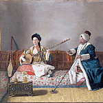 Jean-Étienne Liotard -- Monsieur Levett and Mademoiselle Glavni in Turkish costume, Part 2 Louvre