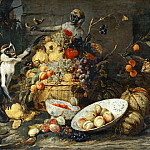 Part 2 Louvre - Frans Snyders -- Three Monkeys with Fruit