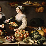 Part 2 Louvre - Louise Moillon -- The fruit and vegetable seller