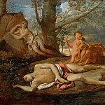 Nicolas Poussin -- Echo and Narcissus, Part 2 Louvre