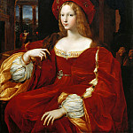 Giulio Romano; face attributed to Raphael -- Portrait of Joan of Aragon, Vice-Queen of Naples, Part 2 Louvre