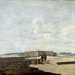 Part 2 Louvre - Frans Post -- The ancient Portuguese fort of the Three Wise Kings (or Fort Ceulen), at the mouth of the Rio Grande