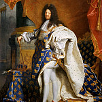 Hyacinthe Rigaud -- Louis XIV, King of France, in Royal Costume, Part 2 Louvre