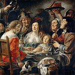 Jacob Jordaens the Elder -- The Bean-King Drinks, Part 2 Louvre