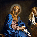 Guercino -- Saint Peter Weeping Before the Virgin , Part 2 Louvre