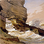 Part 2 Louvre - Eugène Isabey -- Rocks at Etretat (Rochers d'Etretat)