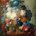 Jan van Os -- Flowers in a vase and a bird's nest, Part 2 Louvre