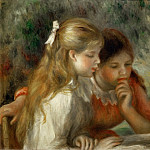La lecture-The Reading; 1890-1895 Canvas, 55 x 65, 5 cm R.F.1961-70, Pierre-Auguste Renoir
