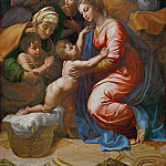 Part 2 Louvre - Raphael -- Holy Family with Saint Elizabeth, the Young Saint John and Angels (Holy Family of Francis I)