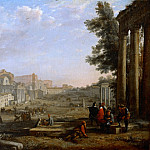 Part 2 Louvre - Claude Lorrain -- View of the Campo Vaccino, Rome