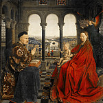 Jan van Eyck -- Madonna of Chancellor Rolin, Part 2 Louvre