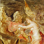 Rubens, Peter Paul -- Venus escortant Mars sur le chemin de la guerre-Venus accompanies Mars to war. Wood, 36 x 25 cm DL 1973-16, Part 2 Louvre