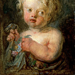 Part 2 Louvre - Jean-Honoré Fragonard -- Child with Flowers