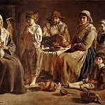 Antoine Le Nain , Louis Le Nain or Mathieu Le Nain -- Peasant Family in an Interior, Part 2 Louvre