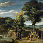Domenichino -- Landscape with a hermit, Part 2 Louvre