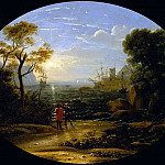 Part 2 Louvre - Claude Lorrain -- Seascape-setting sun