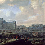 Part 2 Louvre - Reinier Nooms -- View of the old Louvre and the Petit Bourbon
