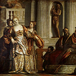 Attributed to Paolo Veronese -- Esther and Ahasuerus, Part 2 Louvre