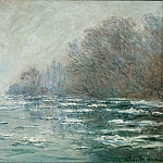 Monet, Claude -- La debacle pres de Vetheuil-The ice breaking near Vertheuil; 1880 Canvas, 65 x 93 cm R.F.1961-61, Part 2 Louvre