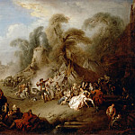 Jean-Baptiste Pater -- A fête champêtre, rejoicing of the soldiers, Part 2 Louvre