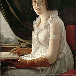 Baron François Gérard -- Madame Barbier-Walbonne, the Artist's Wife, Part 2 Louvre