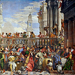 Veronese, Paolo -- The Wedding at Cana. Photograph after restoration. From the Benedictine Convent of San Giorgio Maggiore, Venice. Canvas , 666 x 990 cm Inv. 142, Part 2 Louvre