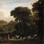 Landscape with setting sun, Claude Lorrain