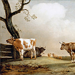 Paulus Potter -- The Prairie, Part 2 Louvre