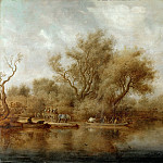Jacob van Ruisdael -- The Landing Stage, Part 2 Louvre