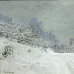 Monet, Claude -- Environs de Honfleur.Neige-Landscape around Honfleur.Snow; around 1867 Canvas, 81, 5 x 102 cm R.F.1961-60, Part 2 Louvre