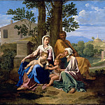 Part 2 Louvre - Nicolas Poussin -- The Holy Family with Saint John and Saint Elizabeth in a landscape