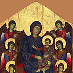 Part 2 Louvre - Cimabue -- Virgin and Child in Glory surrounded by six angels