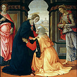 Part 2 Louvre - Domenico Ghirlandaio -- Visitation with Saints Mary Jacobi and Mary Salome