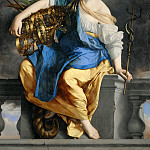 Orazio Gentileschi -- Public Happiness Triumphs Over Danger, Part 2 Louvre