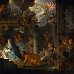 Charles Le Brun -- Adoration of the Shepherds, Part 2 Louvre