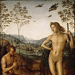 Perugino -- Apollo and Marsyas, Part 2 Louvre
