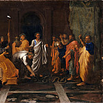 Nicolas Poussin -- Moses changing Aaron's rod into a serpent, Part 2 Louvre